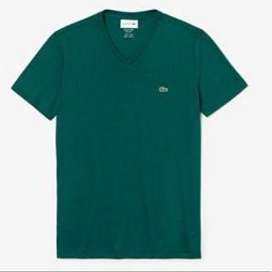 Lacoste Super-soft Pima Cotton V-Neck Tee Shirt